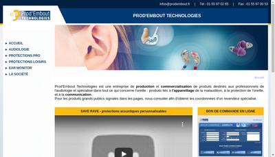Site internet de Prod'Embout Technologie