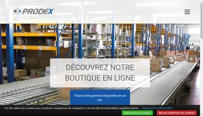 Site internet de Prodex