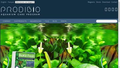 Site internet de Prodibio