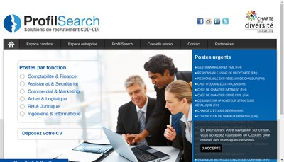Site internet de Profil Search