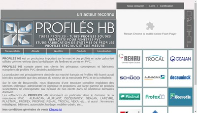 Site internet de Profiles Hb