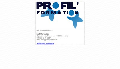 Site internet de Profil Formation