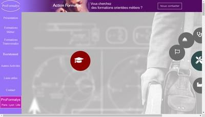 Site internet de Formalys - Proformalys