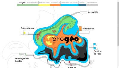Site internet de Progeo Environnement