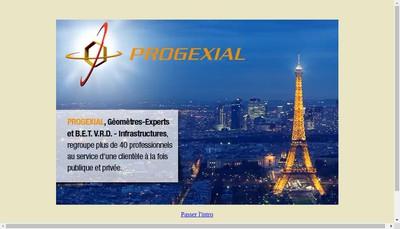 Site internet de Progexial