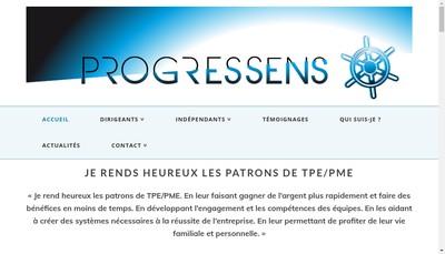 Site internet de Progressens