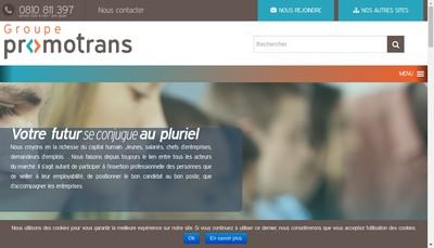Site internet de Promotrans Formation Professionnelle Continue