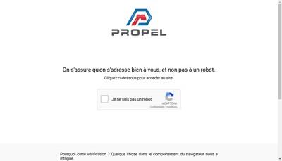 Site internet de Propel