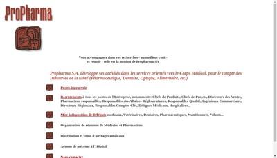 Site internet de Propharma