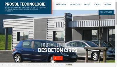 Site internet de Prosol Technologie SAS