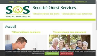 Site internet de Securite Ouest Services