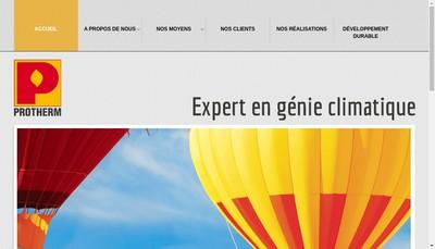 Site internet de Protherm Societe d'Exploitation des Etablissements Bredeau