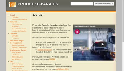Site internet de Groupe Prouheze-Paradis