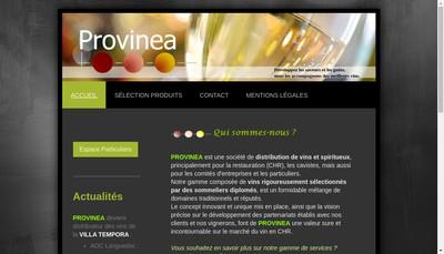 Site internet de Provinea
