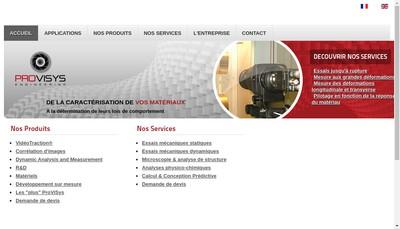Site internet de Provisys Engineering