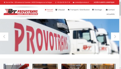 Site internet de Technopole Logistic