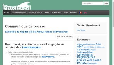Site internet de Proxinvest