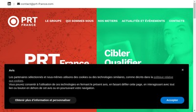 Site internet de PRT France