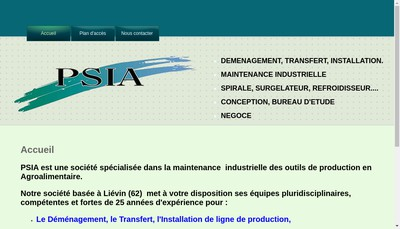 Site internet de PSIA