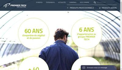 Site internet de Premier Tech Agriculture France-Premier Tech Horticulture-Premier Tech Horticulture France