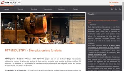 Site internet de Ptp Industry