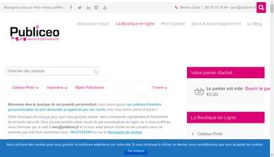 Site internet de Publiceo