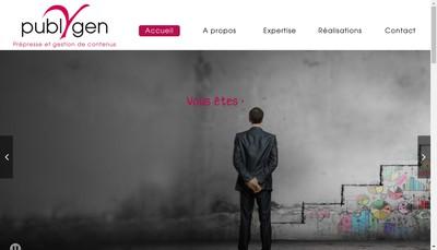Site internet de Publygen