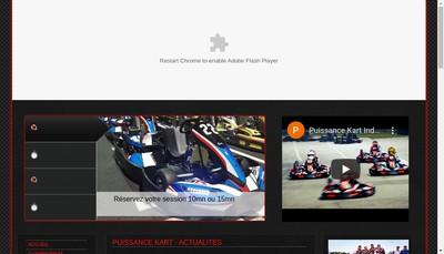 Site internet de Puissance Kart Indoor
