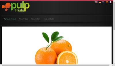Site internet de Pulp Fruits