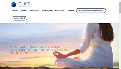 Site internet de Pure Informatique