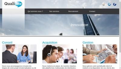 Site internet de Qualione