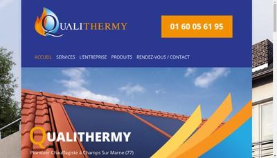 Site internet de Qualithermy