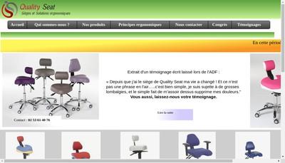 Site internet de Quality Seat