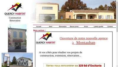 Site internet de SARL Quercy Habitat