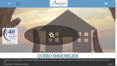 Site internet de Cabinet Quero Immobilier Achat Vente Loc