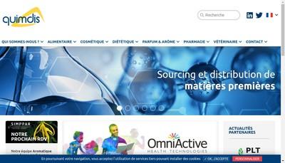 Site internet de Quimdis SAS