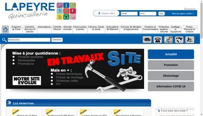 Site internet de Etablissements Lapeyre Quincaillerie