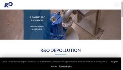 Site internet de R et O Depollution