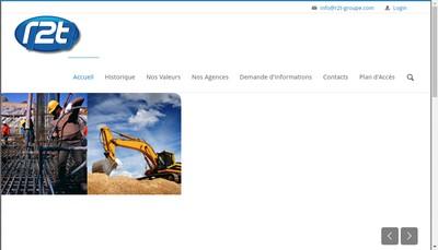 Site internet de R2T Btp