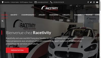 Site internet de Racetivity