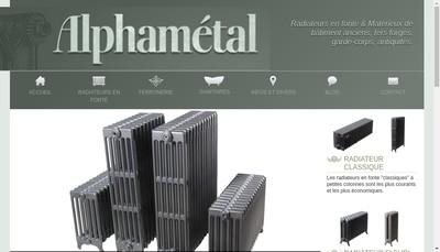 Site internet de Alphametal Recyclage