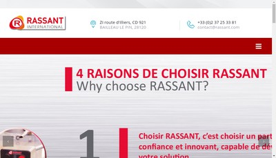 Site internet de Rassant International