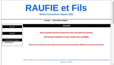 Site internet de Raufie et Fils