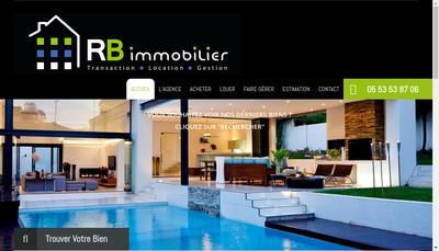 Site internet de Rb Immobilier