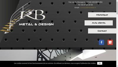 Site internet de Rb Metal & Design