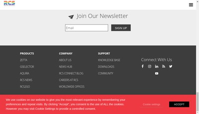 Site internet de Rcs Europe