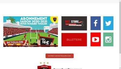 Site internet de SASP Rugby Club Toulonnais