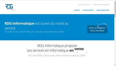 Site internet de Rdg Informatique