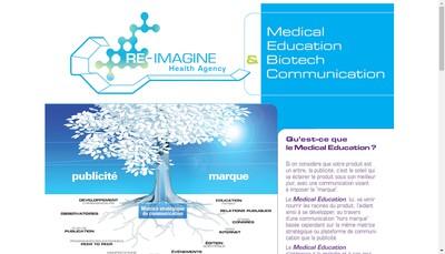 Site internet de Re - Imagine Health Agency