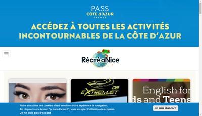 Site internet de Recreanice